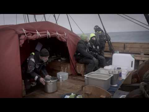 Breakfast onboard Draken with cook Jan Gullbrandsson