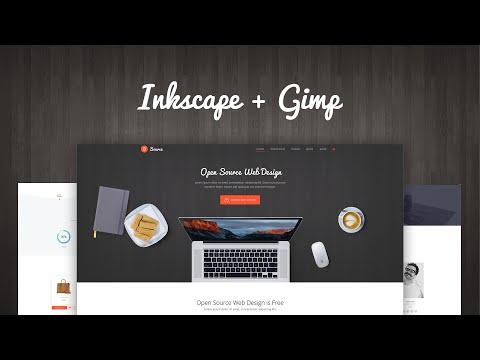 Мастер веб-дизайна #4: Open Source Web Design (Inkscape + Gimp)