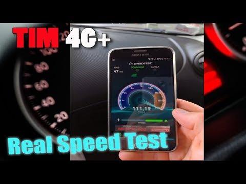 Speed test TIM 4G+ 4G Plus LTE Advanced ultra-broadband mobile