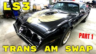 1979 Pontiac Firebird Trans Am LS Engine Swap and Suspension at V8 Speed and Resto Shop Part 1