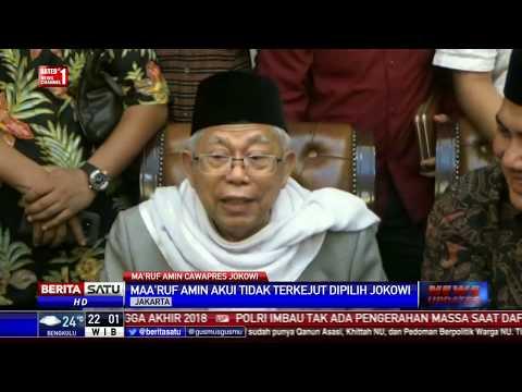 Ma'ruf Amin Tak Terkejut Dipilih Jadi Cawapres Jokowi