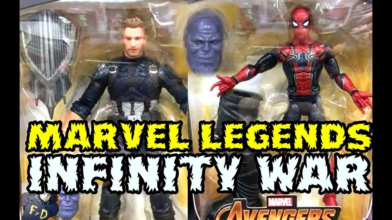 marvel legends avengers infinity war wave spotted - thanos , iron