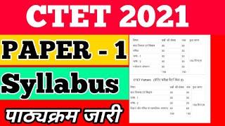 Ctet syllabus 2021।ctet syllabus 2021 paper 1।ctet full syllabus 2021। Ctet 2021 का पाठ्यक्रम जारी।