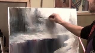 Сахаров Новый Боб Росс Картина Маслом Река Снег