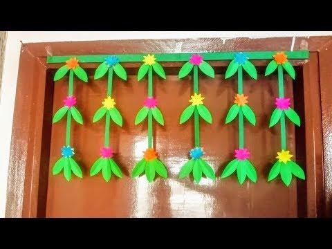 DIY Paper garland door decor Ideas | Simple and easy door hanging craft