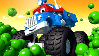 El Camión PRIMAVERA - Carl el Super Camión en Auto City | Dibujos animados para niños