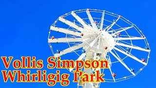 Drone view of the Vollis Simpson Whirligig Park in Wilson North Carolina