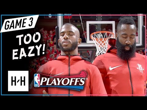 James Harden & Chris Paul Full Game 3 Highlights Rockets vs Jazz 2018 NBA Playoffs WCSF - TOO EAZY!