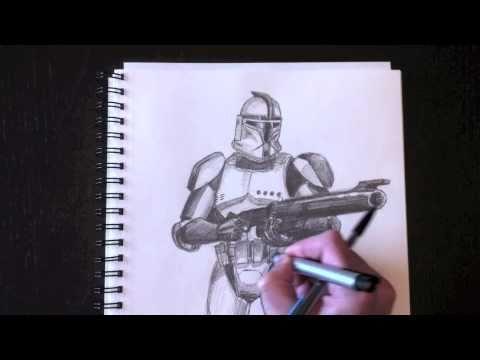 Dessiner un Clone Trooper avec Paolo Morrone YouTube