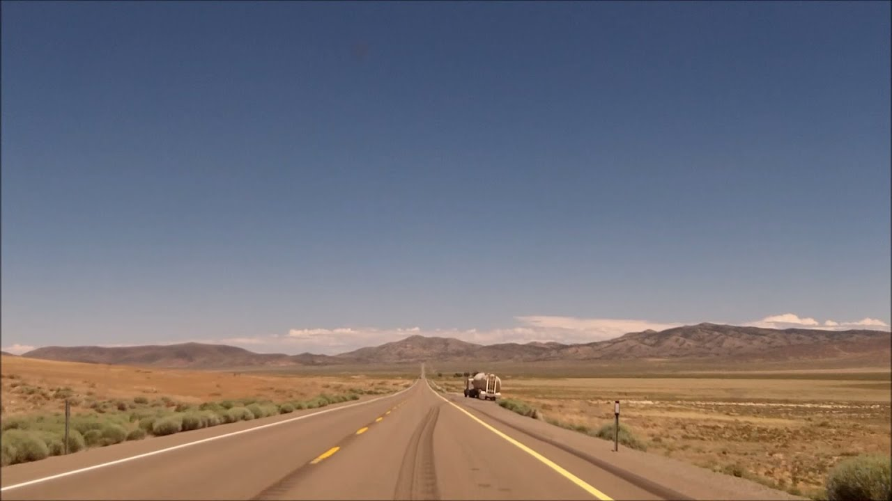 Loneliest Road In America Map.Us 50 In Nevada The Loneliest Road In America Youtube