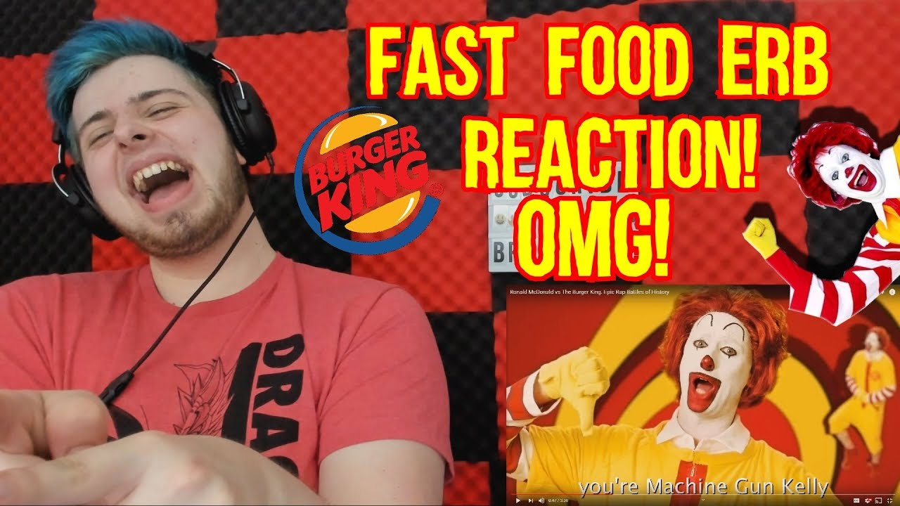 7f25a9d1 Ronald McDonald vs The Burger King ERB REACTION (EPIC RAP BATTLES OF  HISTORY REACTION)