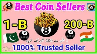 8 Ball Pool Best Coin Seller || 1 Billion To 200 Billion Cheap Price Deals || 100 Trusted 2018 !!