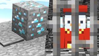 Diese Falle SPERRT ihn in ein GEFÄNGNIS ein👌🏻👮.. Minecraft LUCKY BLOCK BEDWARS BATTLE Falle bauen