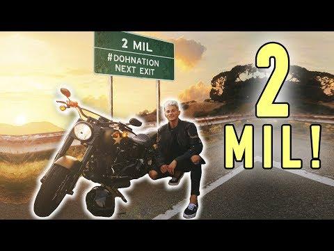 BROKE MY MOTORCYCLE & HIT 2 MILLION FOLLOWERS! *celebration*