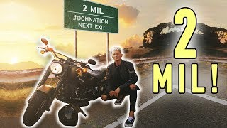 BROKE MY MOTORCYCLE & HIT 2 MILLION FOLLOWERS! *celebration* thumbnail