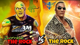 WWE Mayhem 5 Star Zombie The Rock Vs 5 Star The Rock | Whose the Best? | Human Vs Zombie |