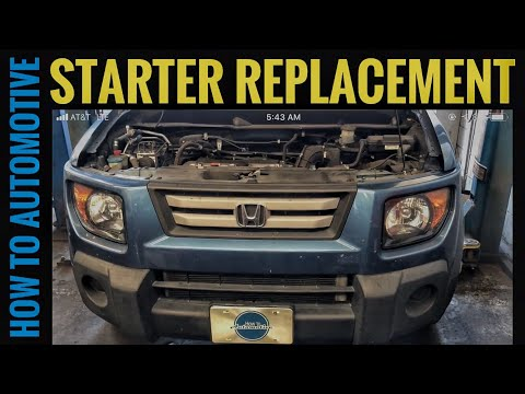 How to Replace the Starter on a 2003-2011 Honda Element Without Removing the Intake Manifold