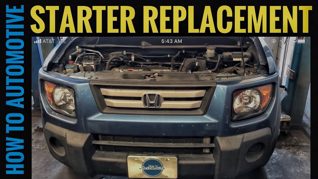 how to replace the starter on a 2003 2011 honda element without removing the intake manifold 2006 honda element under dash fuse box 06 honda civic fuse box wiring diagrams