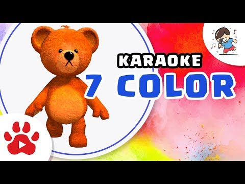 7 COLORS [Karaoke] | DancingBear Teddy in the Easter Egg Village | Nursery Rhymes Songs Compilation