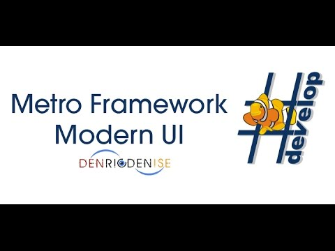 How to use MetroFramework Modern UI in SharpDevelop