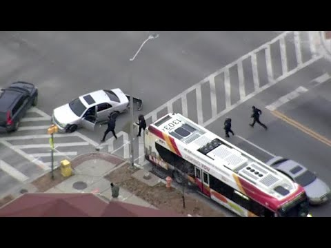 Baltimore police chase seen on dramatic video