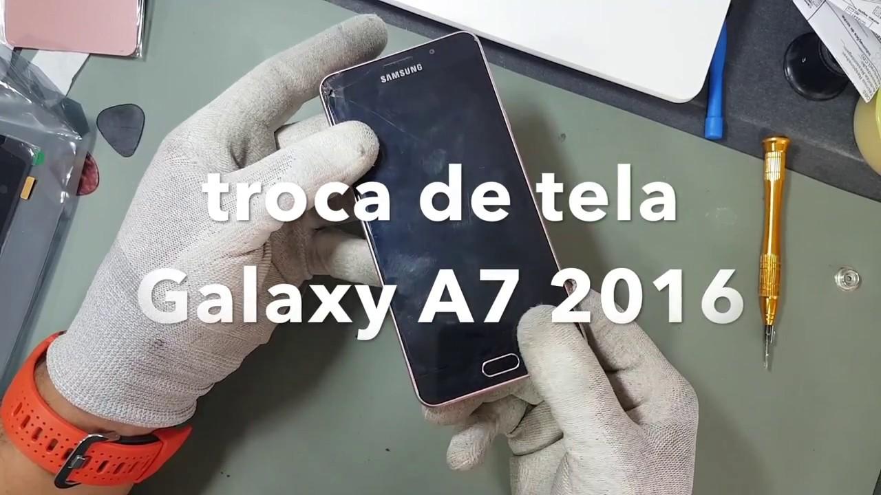 e93ff3764a3 Samsung Galaxy A7 2016 Troca de Display (tela) e tampa traseira ...