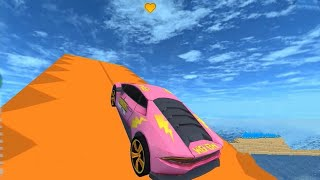 Sports Car Racing Stunts 3D Game | Pink Car Unlocked - Android GamePlay FHD