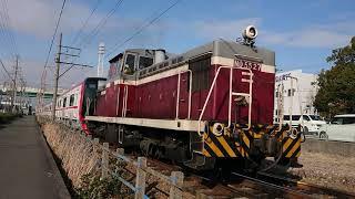 2019/2/13    名鉄2200系2213F  甲種輸送⑤  東名古屋港駅発車