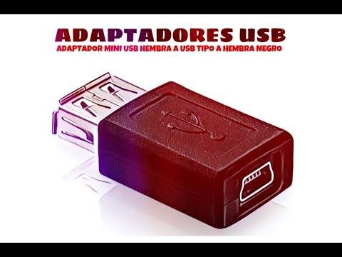 Video de Adaptador mini USB hembra a USB tipo A hembra  Negro
