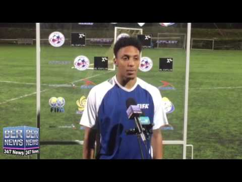 Bermuda Footballer Willie Clemons Before Canada Game, Jan 17 2017