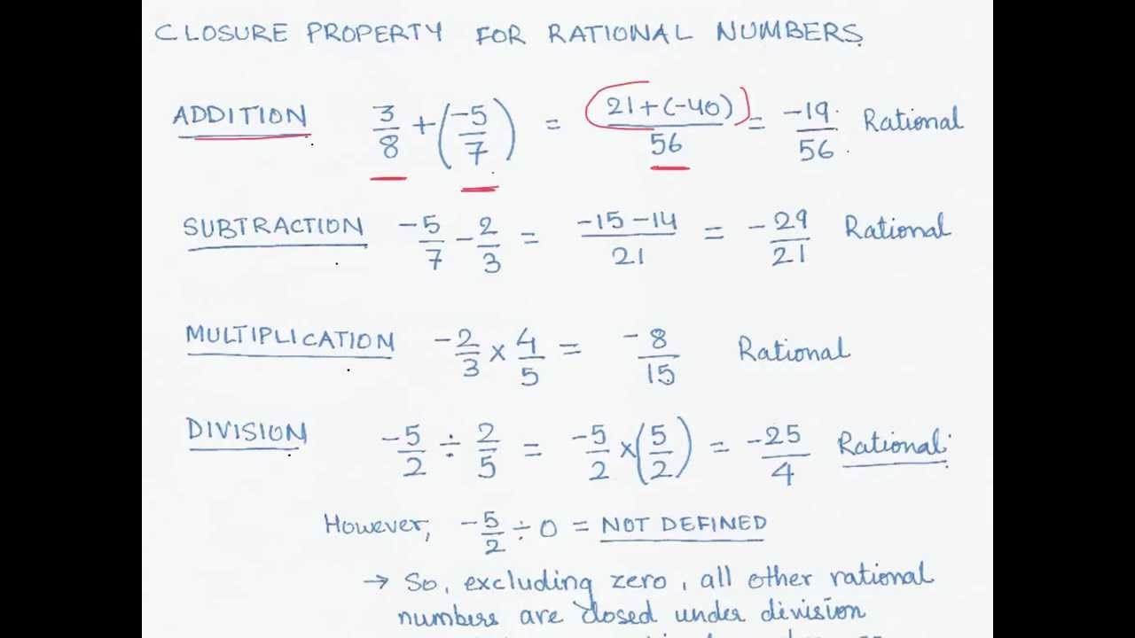 04 Proving Closure Property For Rational Numbers Youtube