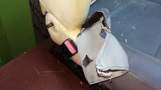 стирка автомобильных чехлов и ремонт сидения рено логан 1 фаза