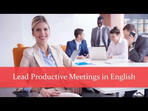 Course Introduction: Lead Productive Meetings in English