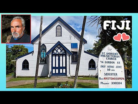 FIJI: The OLDEST CHRISTIAN CHURCH in SUVA (ST ANDREW'S PRESBYTERIAN, 1880s)