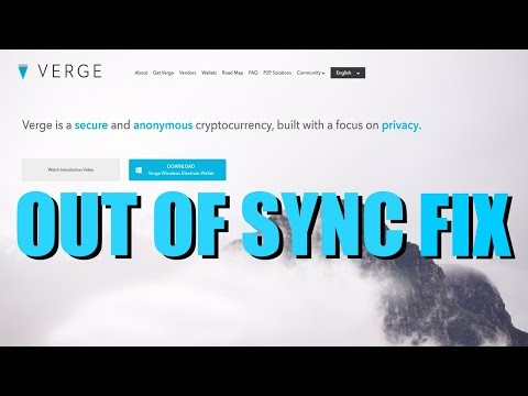 How To Fix Verge | $XVG | Wallet Not Syncing