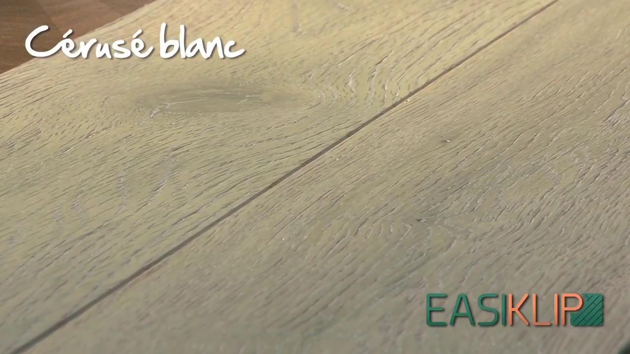 Ceruser Un Parquet En Chene parquet chêne massif clipsable easiklip - cérusé blanc