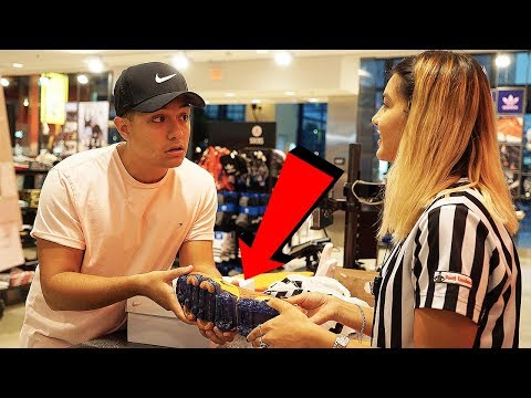 RETURNING NIKES WITH POPPED AIR BUBBLE TO FOOTLOCKER!!