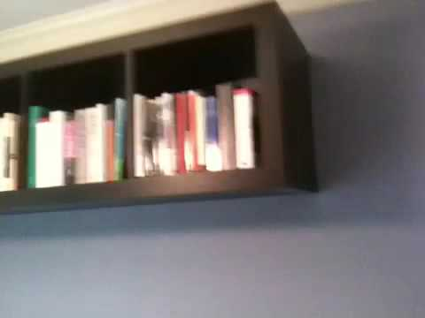 float ikea bookcases for maximum shelf space with zero footprint ikea expedit mounted to wall - Wall Hanging Book Shelf