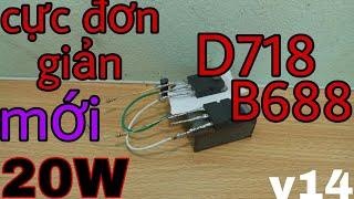 [VVTV]Cách Làm Mạch Khuếch Đại Âm Thanh Dùng D718 Và B688 20W V14