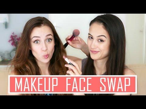 MAKEUP FACE SWAP || Met MeisjeDjamila