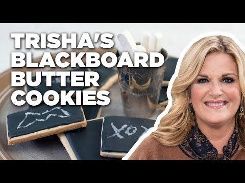 Trisha Yearwood Makes Blackboard Butter Cookies | Food Network