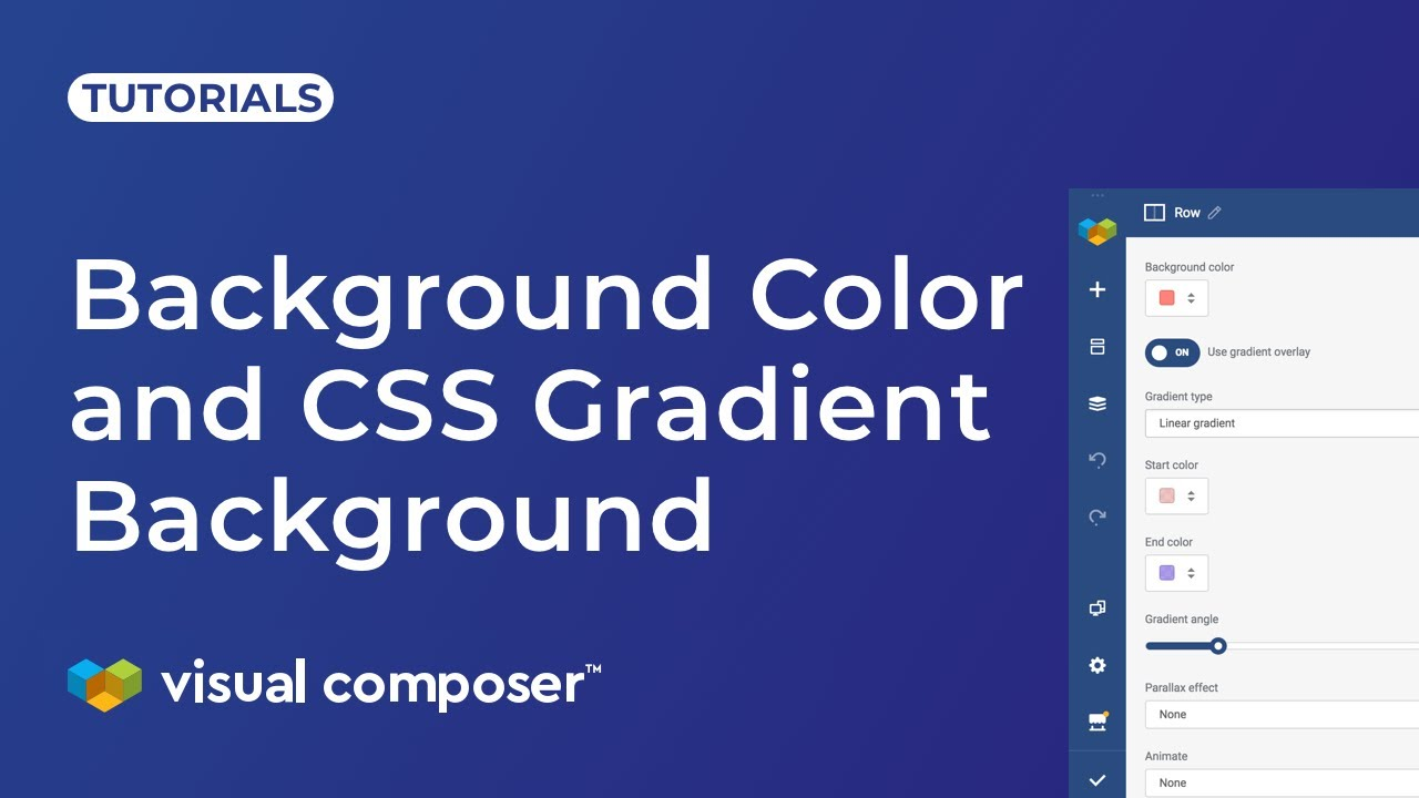 Set Background Color and CSS Gradient Background in Design