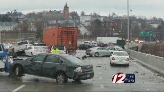 70 cars wrecked in Worcester, ice blamed