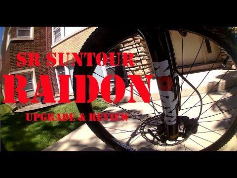 "Sr Suntour raidon 27,5/"" MTB Boost horquilla de suspensión 15x110mm disc Fork-nuevo"