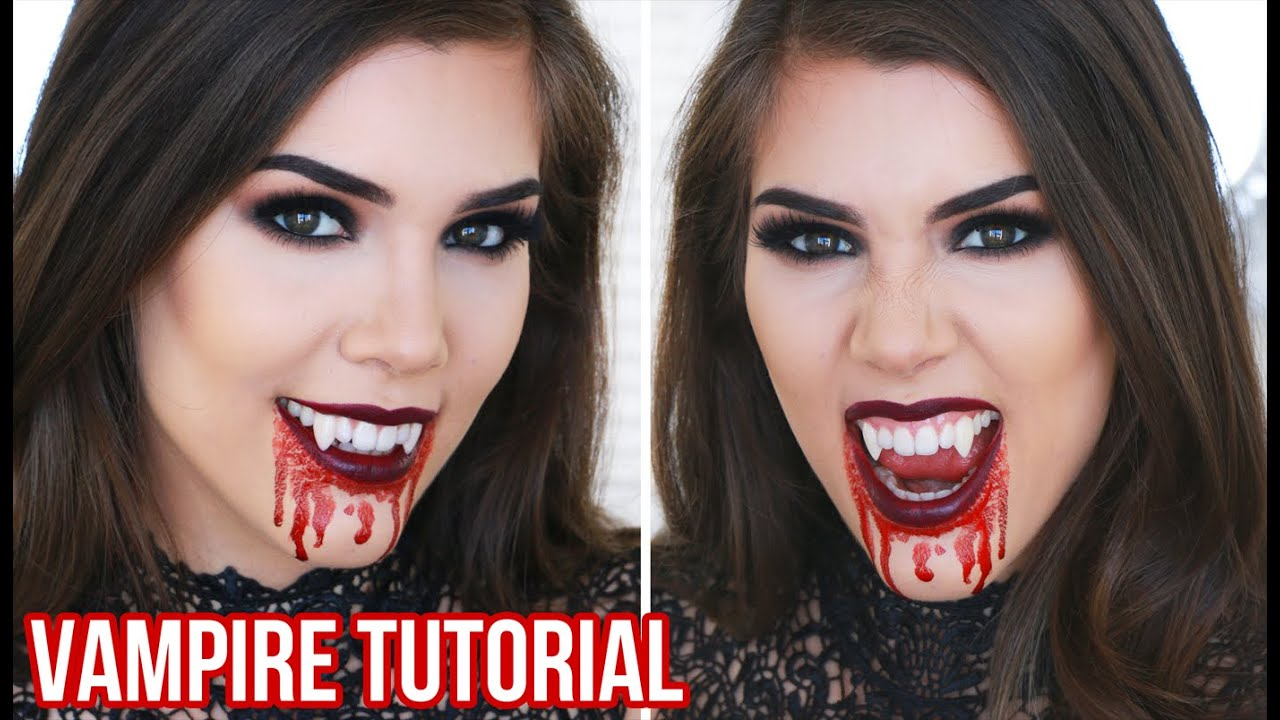Sexy Vampire Halloween Makeup Tutorial | Quick, Easy and Cheap ...