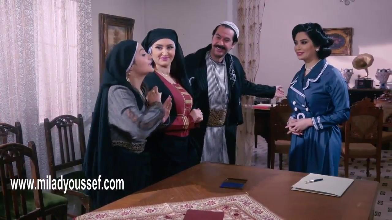 باب الحارة 9  -  عصام يسجل البيت باسم نسوانه  - ميلاد يوسف - رنا ابيض - اريج خضور