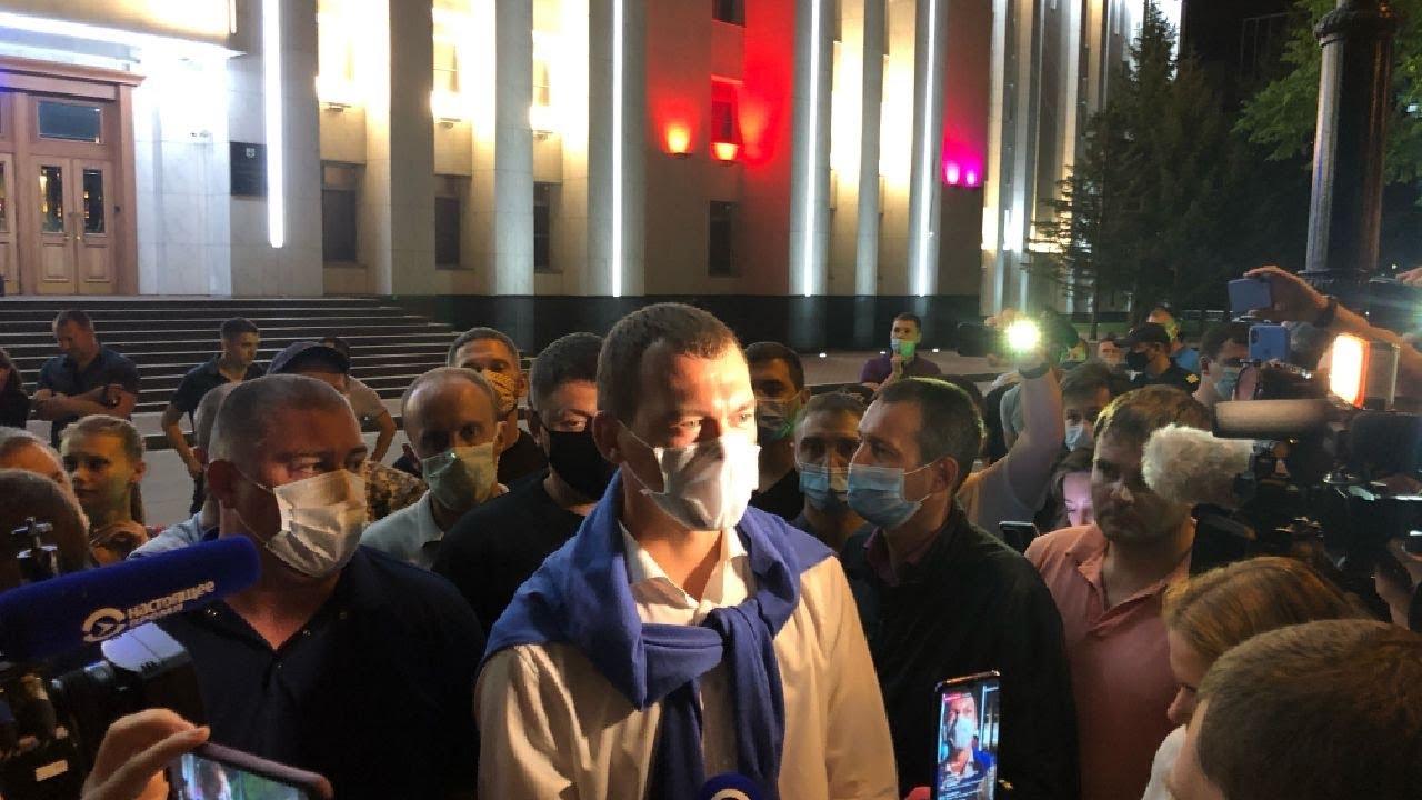 Михаил Дегтярев пришел на площадь Ленина в Хабаровске.Задержание / LIVE 26.07.20