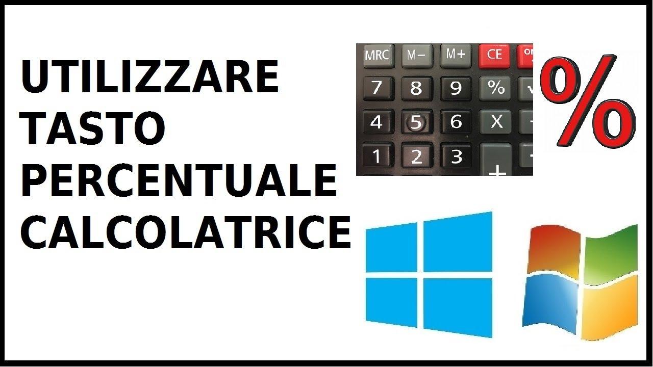 calcolatrice con percentuale