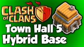Clash of Clans - BEST Town Hall 5 Hybrid Base (th5) Speed Build 2015 - BEST TH5 Hybrid Base Layout