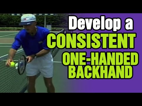 Tennis - How To Develop A Consistent One-Handed Backhand | Tom Avery Tennis 239.592.5920